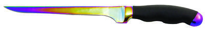"Mustad 7"" TITANIUM Coated Fish Filleting Knife Fillet GERMAN STAINLESS STEEL"