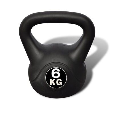 Festnight Home Gym Fitness Kettlebell Concrete with plastic coated