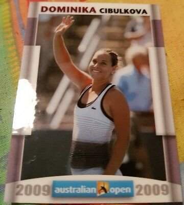 Dominika CIBULKOVA 2009 Australian Open FA Collector Edition card #13/20