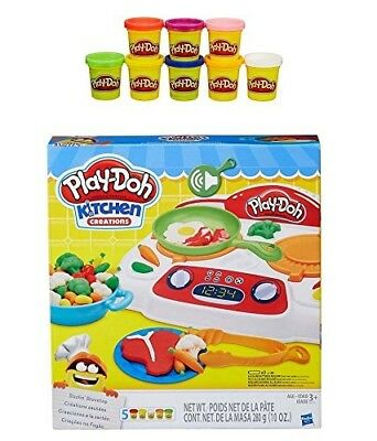 Play-Doh Kitchen Creations Sizzlin' Stovetop + Play-Doh Rainbow Starter Pack