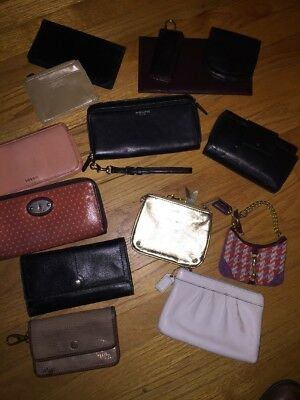 Lot of Wristlets Wallets Coach, Fossil, Kate Spade Hobo & more 14 pieces!