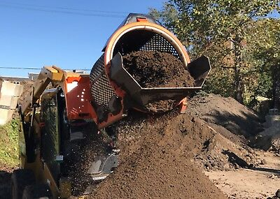 EZ-Screen 100 Skid Steer Attachment Topsoil, Compost, Sand and Gravel Screener