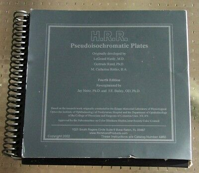 H.R.R./Amsler Combination Color book: Pseudoisochromatic Plates 4th Edition