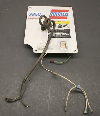 Ammco 3850 & 3860 Brake Lathe Electrical Panel, Power Switch and Pigtail Cord