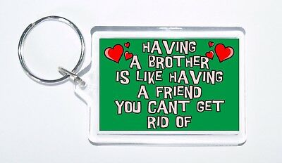Novelty Keyring Gift//Present For Cousin Having A Cousin Is Like Having A Friend