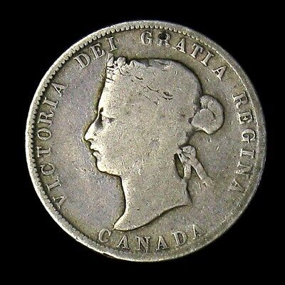 1872 Canada 25 Cents silver coin