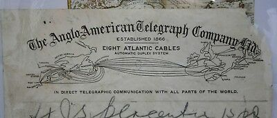 Antique Newfoundland St. John's Anglo-American Telegraph Cable