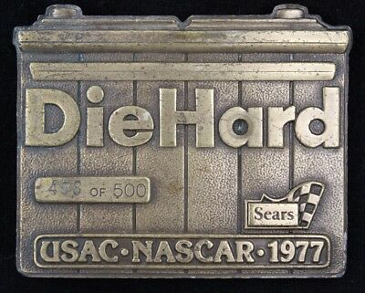 Vtg 1977 Diehard Battery Sears USAC Nascar Racing 498/500 Belt Buckle