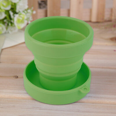 Portable Silicone Telescopic Drinking Collapsible Folding Cup Travel Camping SW