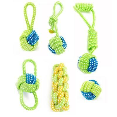 1Pcs Dog Pet Puppy Chew Toys Tooth Cleaning Cotton Rope with Knot Bite  Exercise