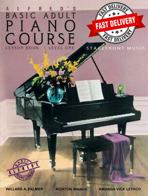Alfred's Basic Adult Piano Course Lesson Book Level 1 ***Brand New***