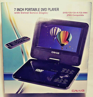 Craig 7 Inch Portable Dvd Player With Swivel Screen Display Ctft716N Free Ship