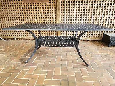 Outdoor Black Wrought Iron Table