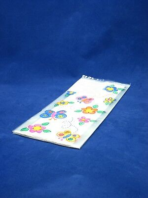 Poly Bags Printed Butterflies 280Mm X 130Mm X 75Mm 20 Pack Child Birthday Party