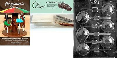 Cybrtrayd Soccer Ball Lolly Chocolate Mould with Chocolatier's Bundle,