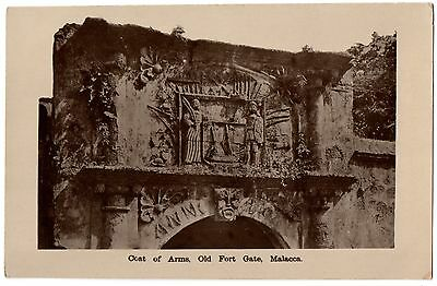 CPA Malaisie - Malaysia - Coat of Arms, Old Fort Gate, MALACCA