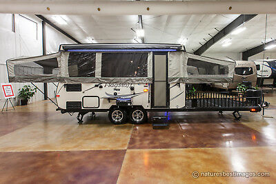 2017 Forest River Flagstaff HW31SCTH High Wall Pop Up Toy Hauler Slide Out