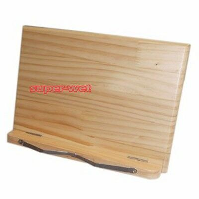 Wooden Wood Book Document Stand Holder Rest Laptop Reading Foldable Adjustable