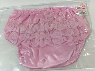 BABY TODDLER GIRLS SATIN FRILLY LACE KNICKERS PANTS WHITE or PINK £1.79! FreeP&P
