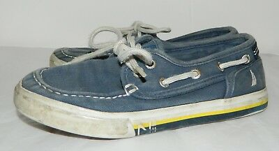 fb276a8b NAUTICA BOYS LOAFER Blue Canvas Boat Shoes Boys size 1 - $2.99 ...