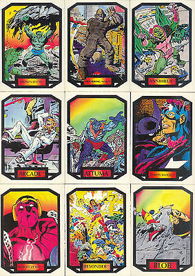 Marvel - Colossal Conflicts - Complete Card SET (90) - Comic Images - 1987 - NM