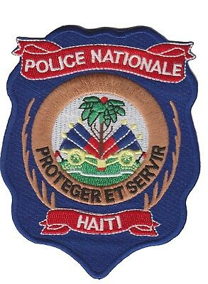 HAITI (CARIBBEAN ) Police patch (NEW STYLE 2017)