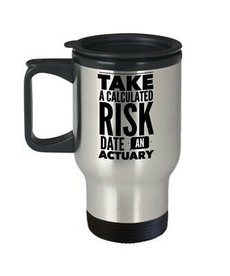 Actuary Travel Mug - Take A Calculated Risk Date - Gift for Actuaries - 410ml