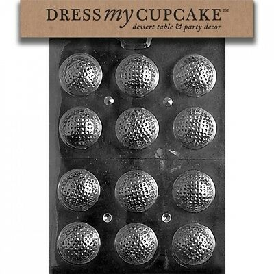 Dress My Cupcake DMCS051 Chocolate Candy Mould, Golf Balls 3D. Delivery is Free