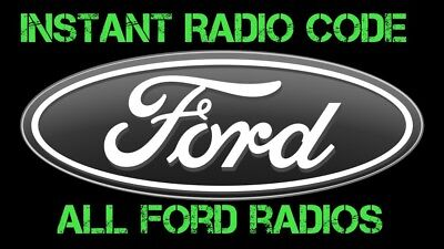 Ford V Serial Radio Unlock Pin Code Decode 6006 Cdc 6000  Sony - Instant Service