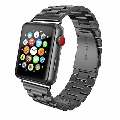 Apple Watch Band 42mm Stainless Steel  iWatch Swees Series 2 3 1 Strap New Gray