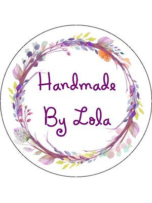 Personalised Stickers Handmade by Labels Various sizes ANY NAME Floral Leaf H11