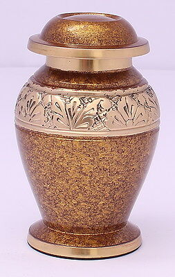 Mini Keepsake ashes urn ,  Small Cremation Funeral Memorial Brown ash container