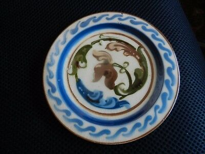 Early 20th c Aller Vale Pottery Swirl design Plate