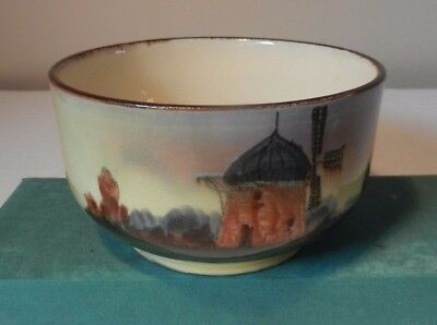 Faience Windmill theme bowl  from  Watcombe pottery