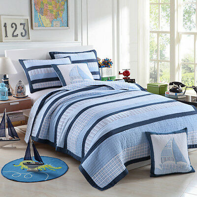 100% Cotton Coverlet / Bedspread Set Single King Single Size Bed 173x218CM Mason