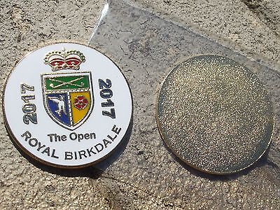 FLAT 1 inch 2017 OPEN Golf ball marker ROYAL BIRKDALE