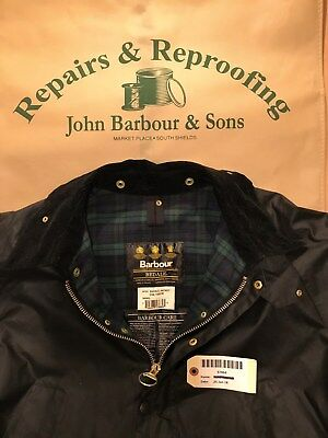 Barbour Bedale A104 Black Jacket C48/122CM freshly reproofed