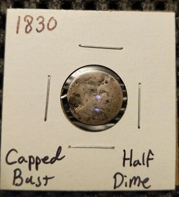 1830 Capped Bust Half Dime! 89% Silver! Free Shipping!