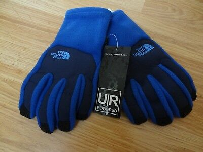 The North Face Youth Denali Etip Gloves Blue Size Large for Child