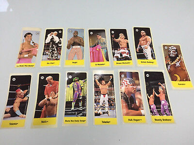 13x WWF Bubble Gum Sticker Aufkleber WWE Wrestling Dublin