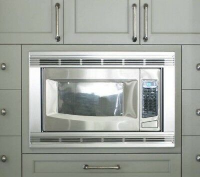 Whirlpool Kitchenaid 27 Stainless Steel Microwave Trim Kit Mk1137xhs