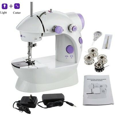 Mini Sewing Machine, Portable Electric Crafting Mending Machine 2-Speed Double