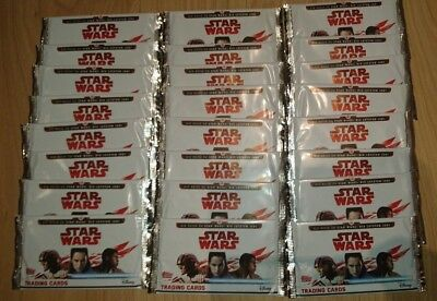 Topps Star Wars 2017 die letzten Jedi 30 Booster Trading Cards
