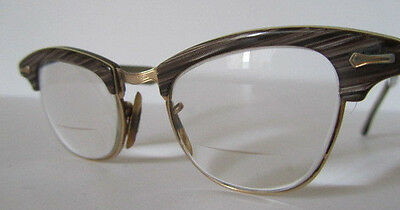 Vintage Rockabilly SHURON 5-1/2 Rare Cat Eye Glasses Frame 1950's 5E