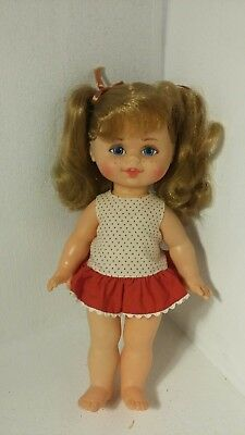 "VTG 1967 Buffy Talk Pull String 10"" Doll Mattel PARTS or REPAIR"