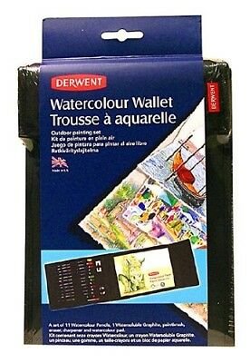 Watercolour Pencil Set In Carrying Case Is Ideal For Artists On the Go. Derwent