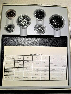Proof Complete Set Of Six Royal Canadian Mint Proof Coins With Holder,box,nr !!!