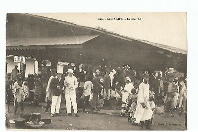 Cpa Afrique , Guinee , Conakry , Le Marche