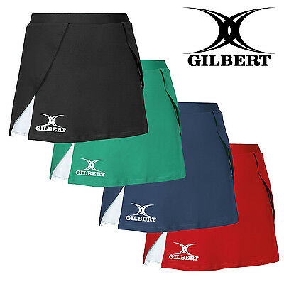 Gilbert Ladies Sports Team Netball Elastic Waistband Skirt Wrap Over Design New