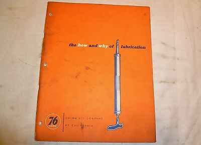 Vintage 1954 Union 76 How and Why of Lubrication Manual